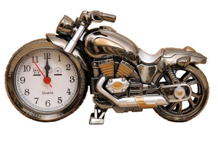 Đồng hồ để bàn trang trí hình xe mô tô kèm pin 2A