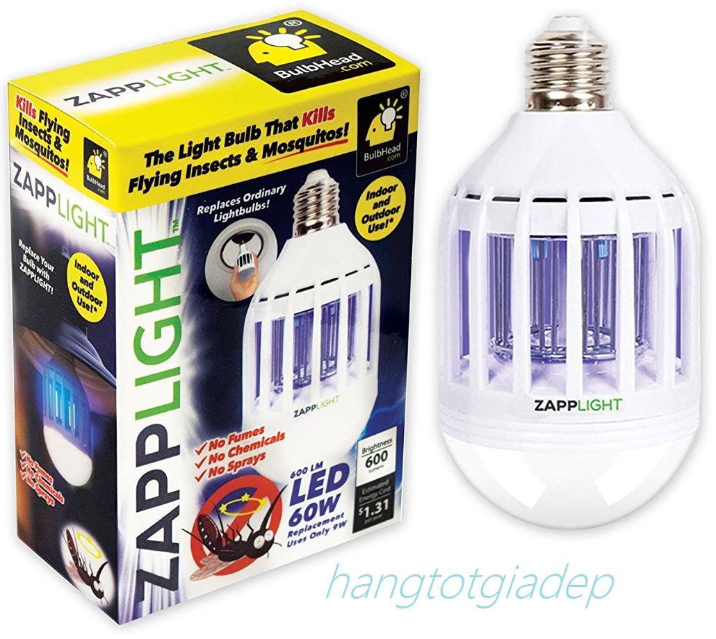 Đèn LED 2 chế độ chiếu sáng và diệt muỗi, côn trùng Zapp Light đui xoáy