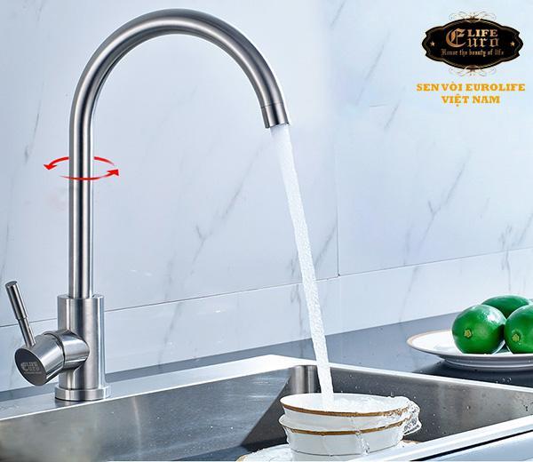 Vòi rửa chén nóng lạnh Inox SUS 304 Eurolife EL-T003-20.jpg