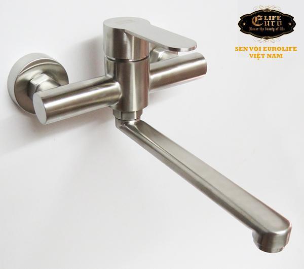 Vòi rửa chén nóng lạnh âm tường Inox SUS 304 Eurolife EL-1304-224.jpg