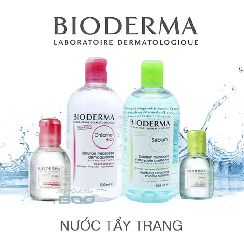 Image result for nuoc tay trang bioderma 100ml mau hong