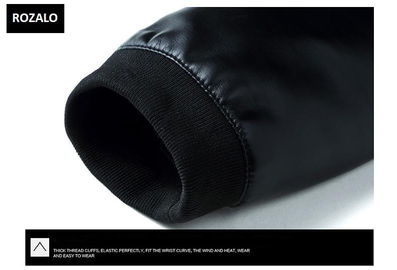 Áo da nam thời trang cổ tròn Rozalo RM8916B-Đen9.jpg