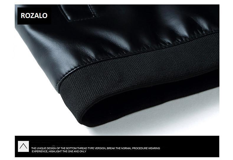 Áo da nam thời trang cổ tròn Rozalo RM8916B-Đen10.jpg