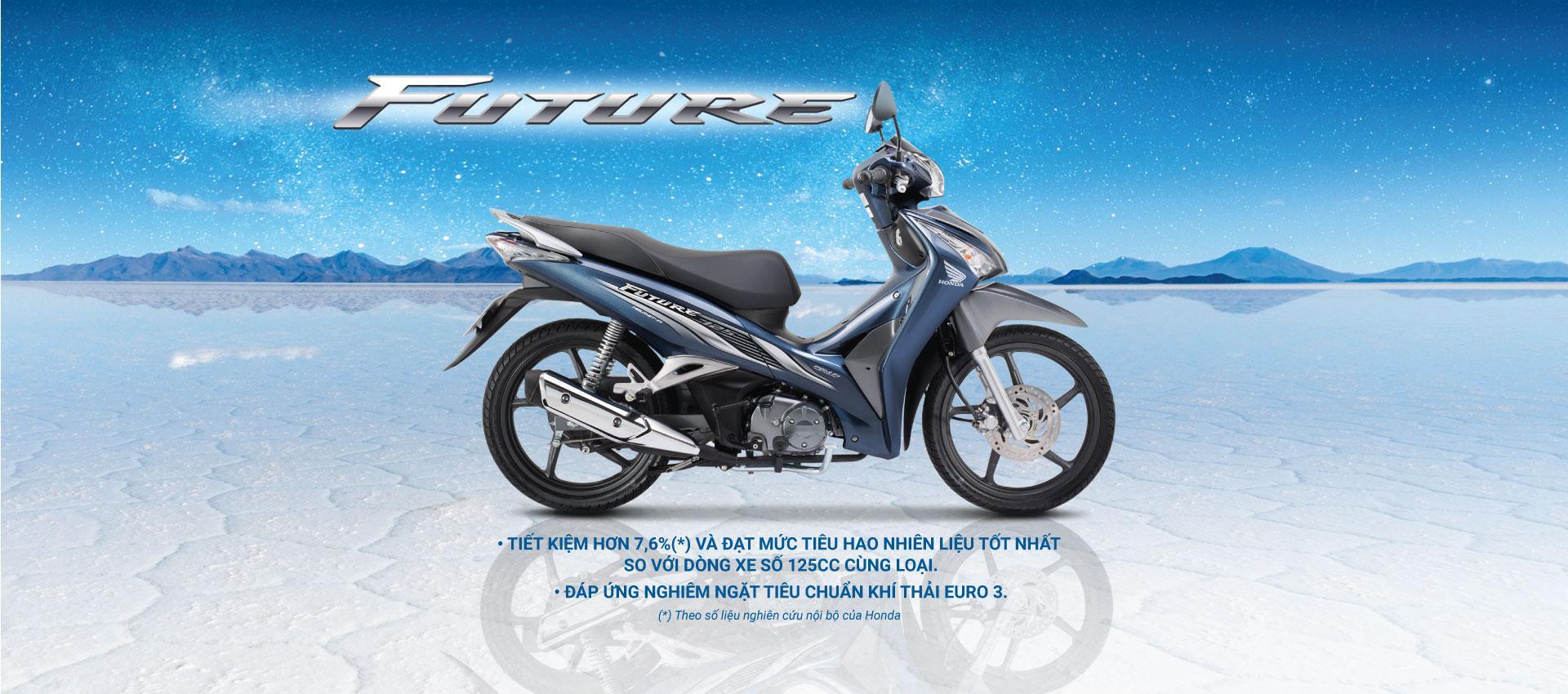 Xe Số Honda Future FI Căm Đĩa - Đen Đỏ Xám