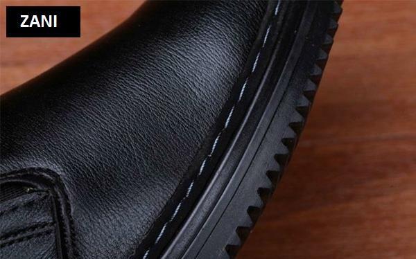 Giày tây da nam kiểu giày lười ZANI ZN5171B-Đen