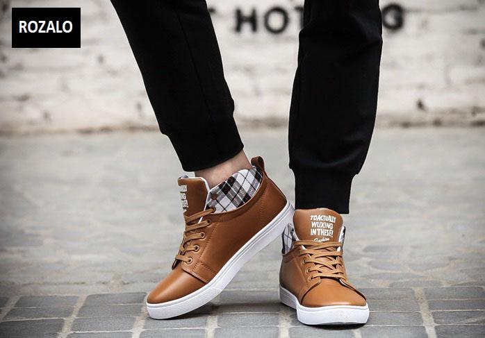 Giày cổ cao thời trang nam Rozalo RM5822N-Nâu7.jpg