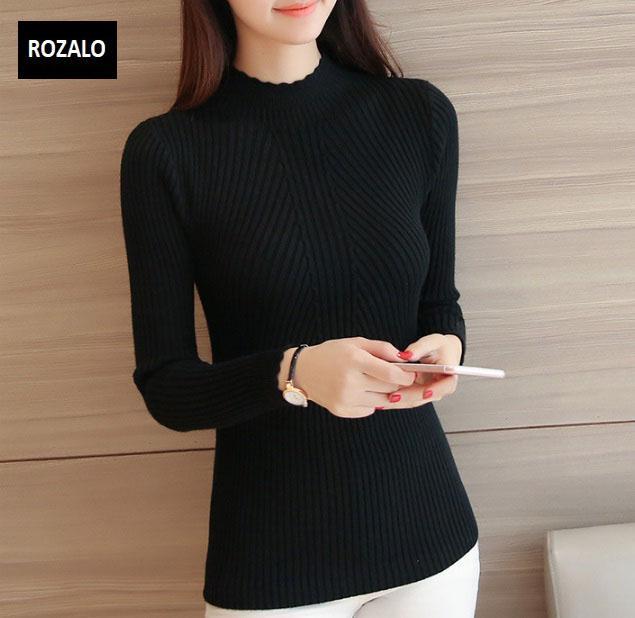 Áo len thu đông nữ dài tay cổ lọ Rozalo RW2181B-Đen1.jpg