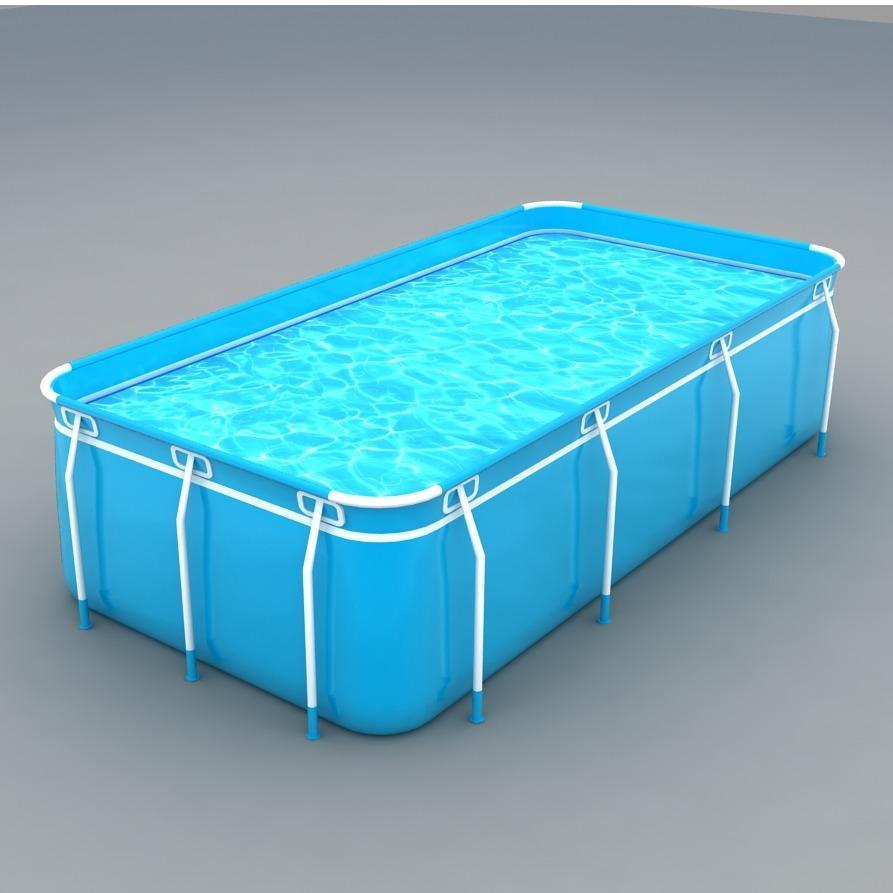 Bể bơi lắp ghép kích thước 2.1m x 1.6m x 0.7m