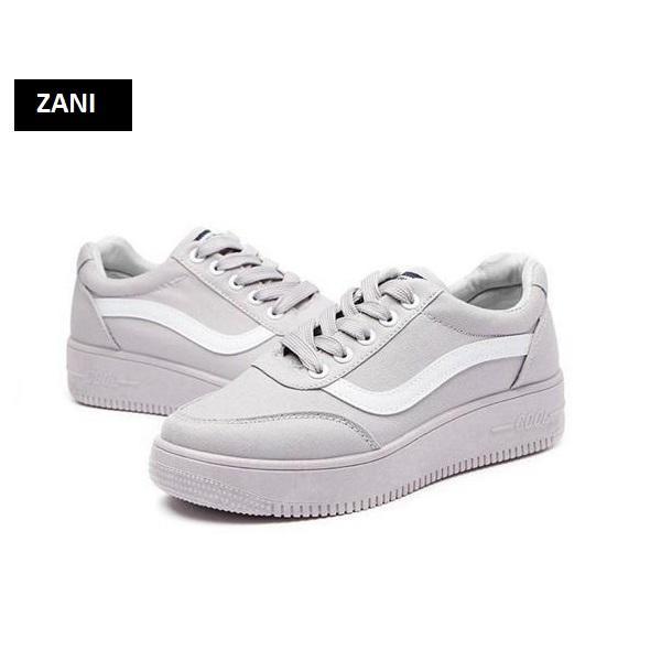 Giày sneaker thời trang nữ ZANI ZN8001G-Xám