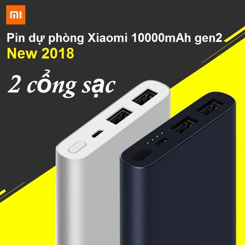 PIN DỰ PHÒNG XIAOMI 10000MAH GEN2 NEW 2018 (Bạc)
