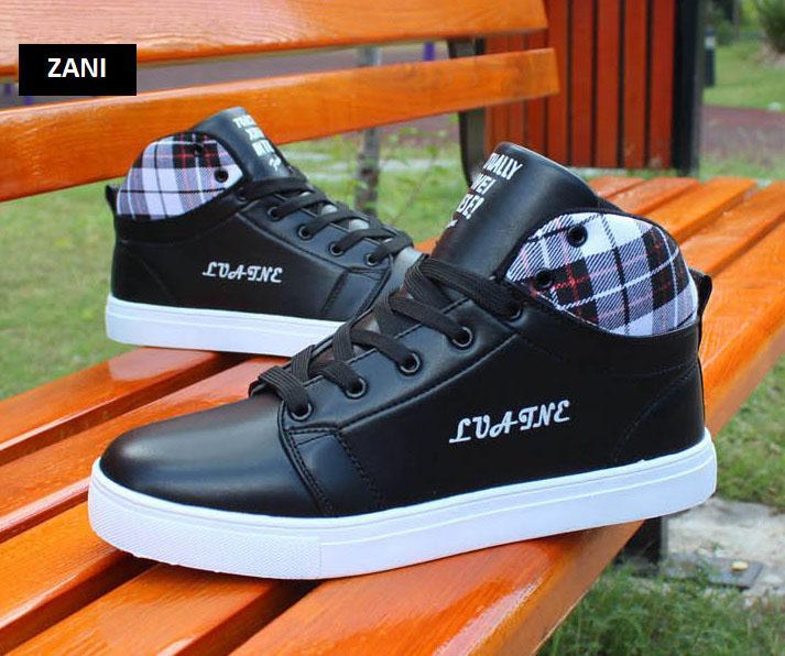 Giày cổ cao thời trang nam Zani ZM5822B-Đen