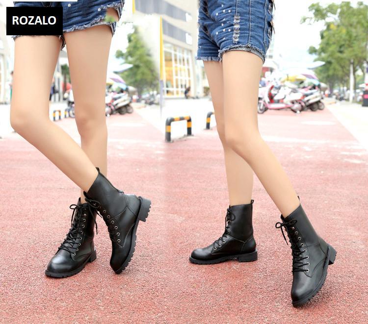 Giày boot nữ cổ cao đế thấp Rozalo RW67517B-Đen3.png