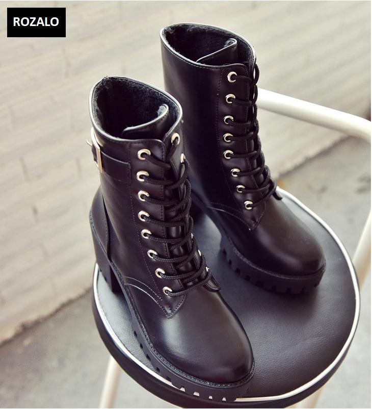 Giày boot nữ cổ cao đế vuông chống trượt Rozalo RW81130B-Đen8.png