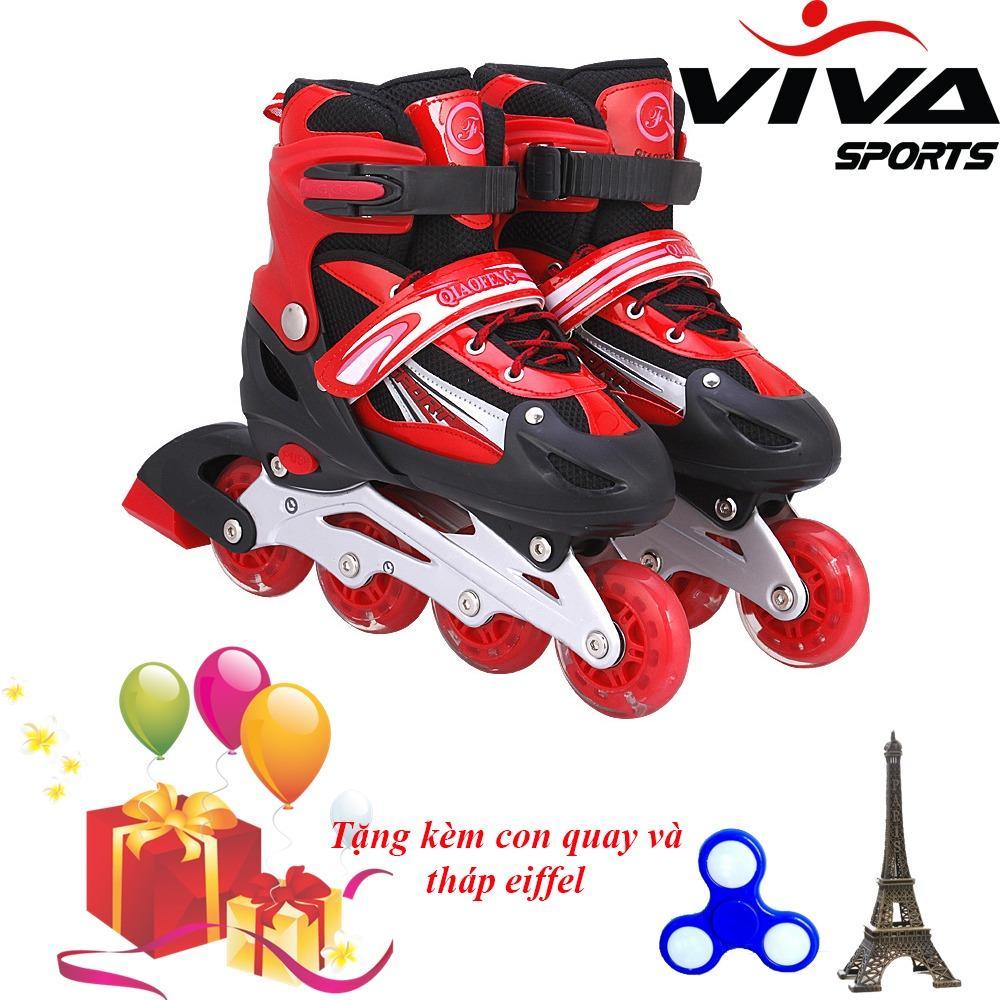 Giày Trượt Patin Gắn Đinh Phát Sáng Cao Cấp  - VIVA SPORT (SIZE L) +  ( TẶNG CON QUAY SPINNER & THÁP EIFFEL CAO CẤP )