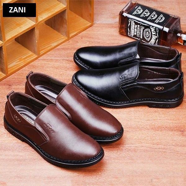 Giày tây da nam kiểu giày lười ZANI ZN5171