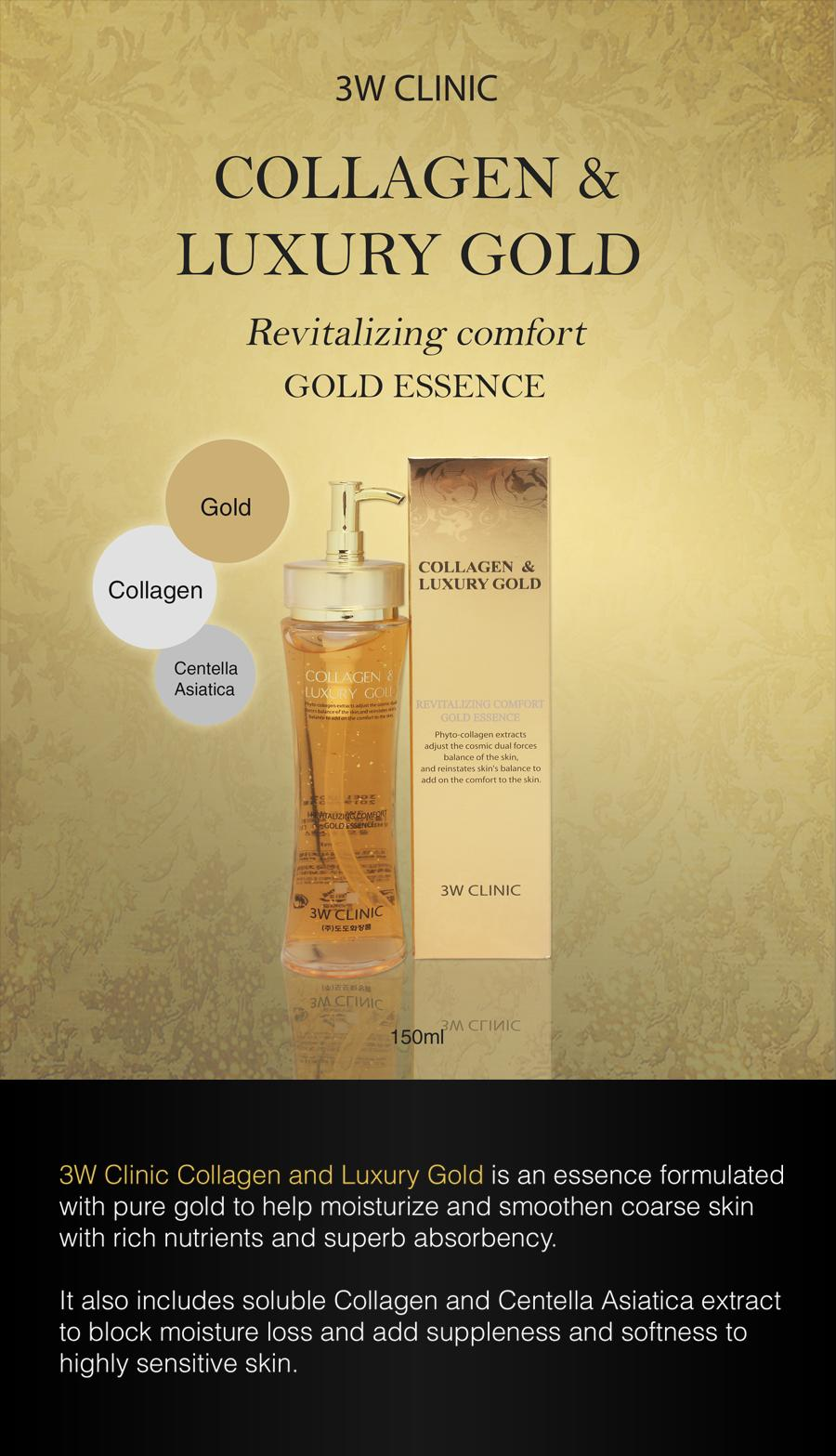 3w clinic collagen & luxury gold essence