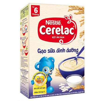 Bột Ăn Dặm Nestlé Cerelac - Gạo Sữa Dinh Dưỡng (200g)
