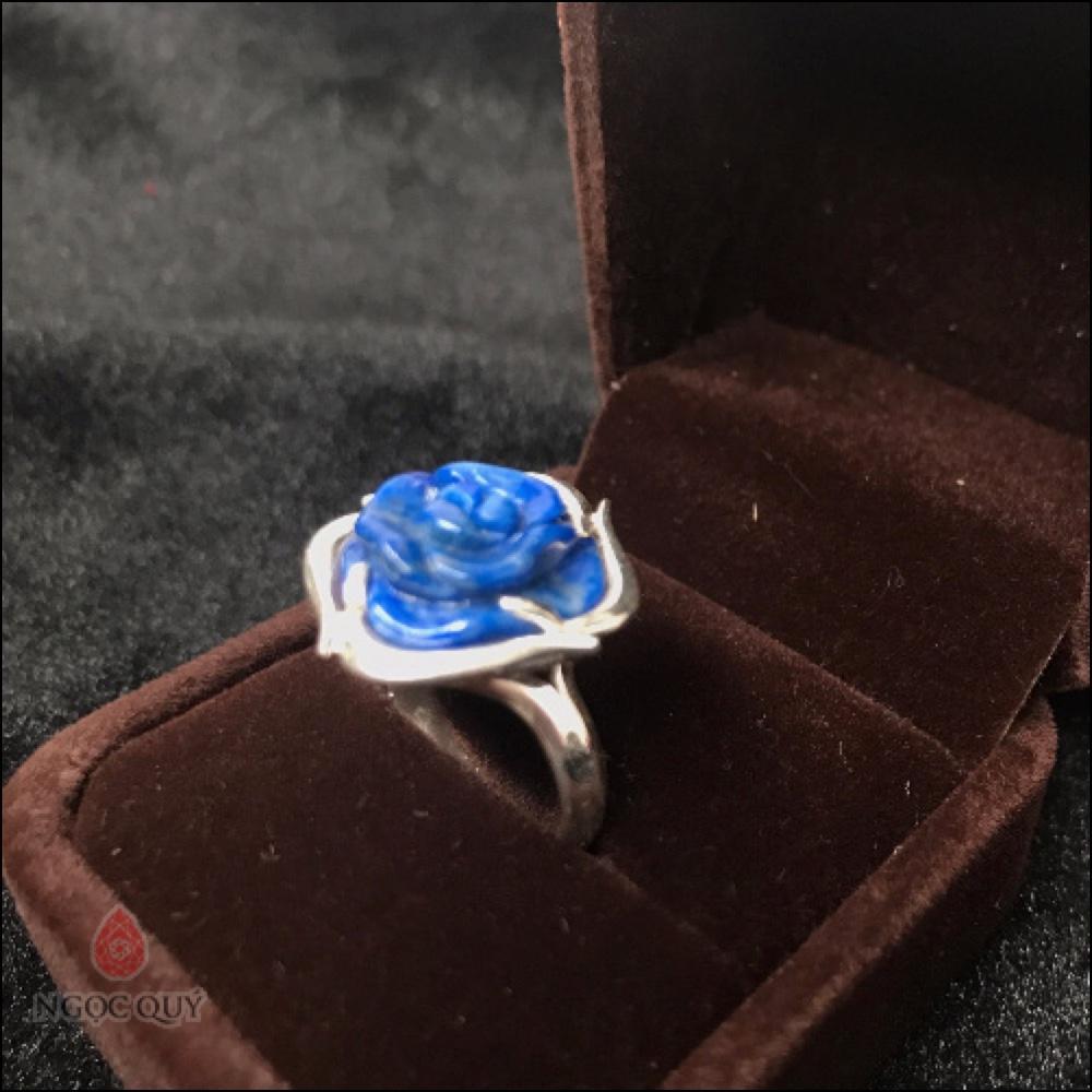 Nhẫn Bạc Hoa Mẫu Đơn Đá Lapis Lazuli 3 11.13.06 AM.jpg