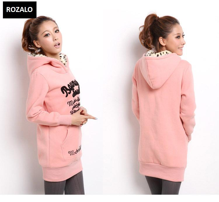 Áo khoác nữ hoodie thời trang Rozalo RW2961P-Hồng1.jpg