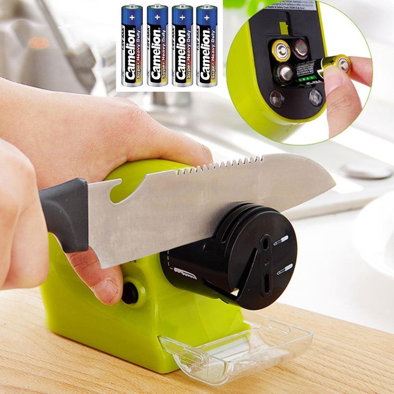 COMBO Dụng cụ mài dao kéo Swifty Sharp đa năng, tiện dụng và 4 pin AA