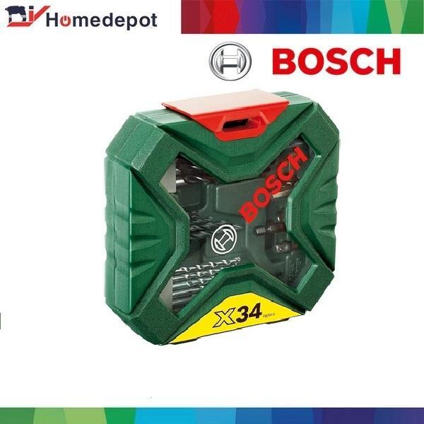 Bộ Mũi Khoan Và Vặn Vít 34 Món Bosch X-Line – 2607010608