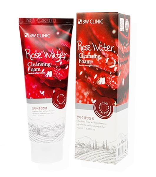 Image result for 3w clinic Rose Water Cleansing Foam