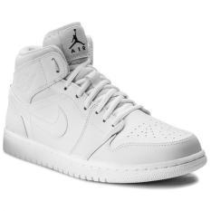 Giá Sốc Nike – Giày Bóng Rổ Nam Air Jordan 1 Mid (Trắng)