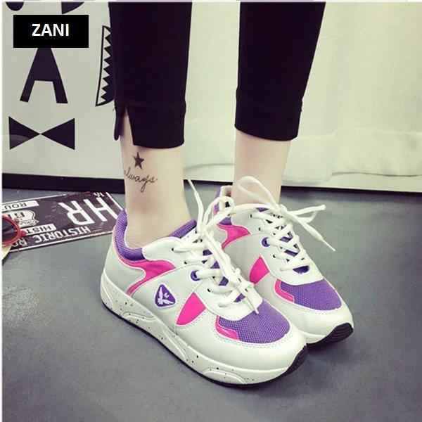 Giày thể thao nữ Zani ZWG9123WP-Trắng Hồng