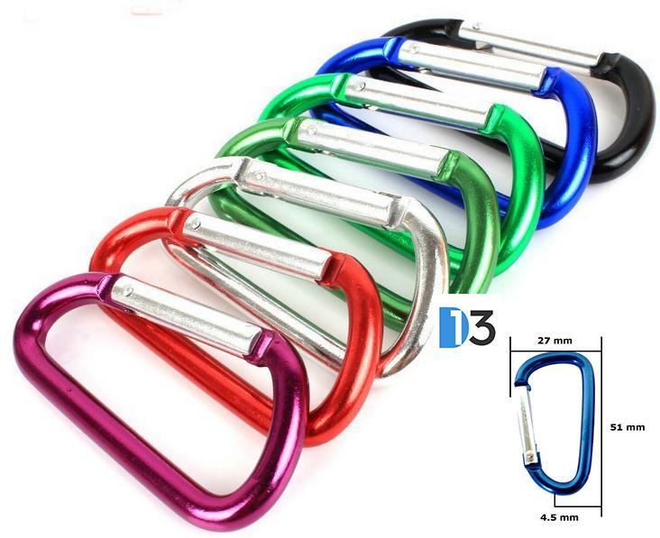 01 Móc Chìa Khóa Nhôm Đa Năng KmZero Mini (2.7 x 5.1 x 4.5cm) - Giao ngẫu nhiên