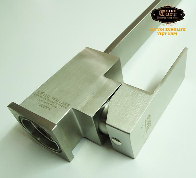 Vòi rửa chén nóng lạnh Inox SUS 304 Eurolife EL-T002 (Trắng vàng)-29.jpg