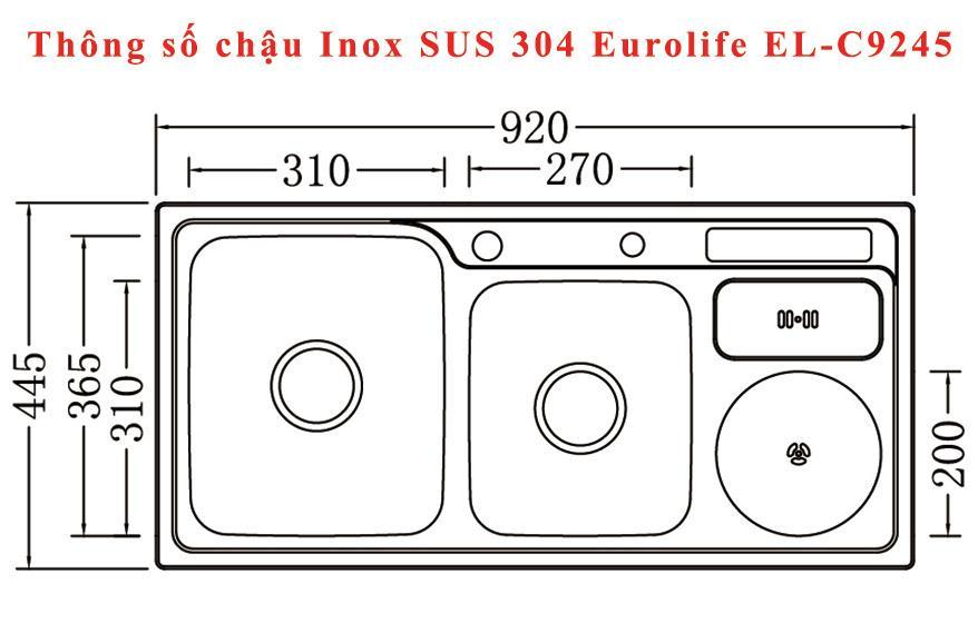 Chậu-rửa-chén-Inox-SUS-304-2-hộc-một-hố-rác-Eurolife-EL-C9245-(Trắng-bạc)-1.jpg