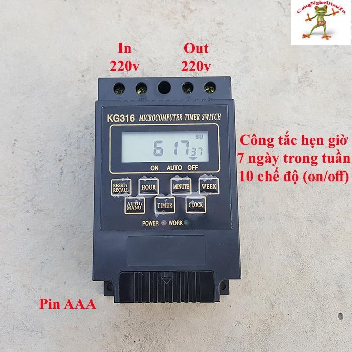 Công tắc hẹn giờ KG316 thế hệ mới