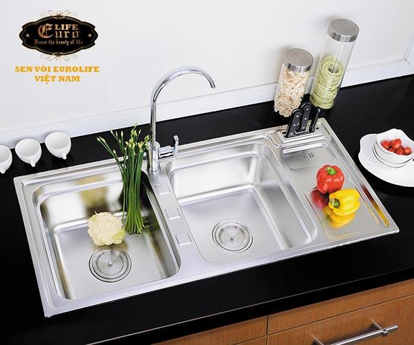 Chậu rửa chén Inox 2 hộc  Eurolife EL-C7-12.jpg