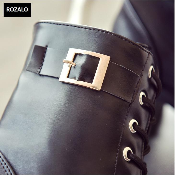 Giày boot nữ cổ cao đế vuông chống trượt Rozalo RW81130B-Đen11.png