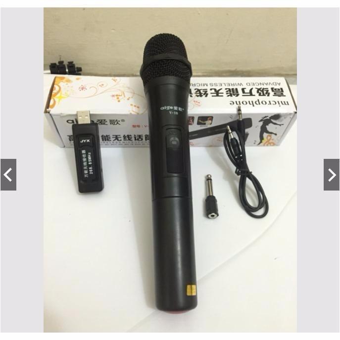 [xả hàng - Giá sốc] Bộ MIC V10 Hát Karaoke Không  Dây Đa Năng Giá rẻ  Dùng cho  ÂMLY  LOA KÉO  loa trợ Giảng - INZEC