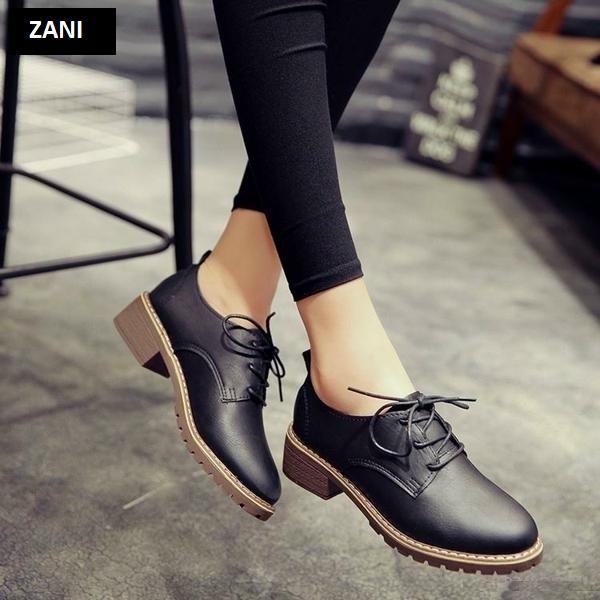 Giày boot nữ cổ thấp ZANI ZN7118