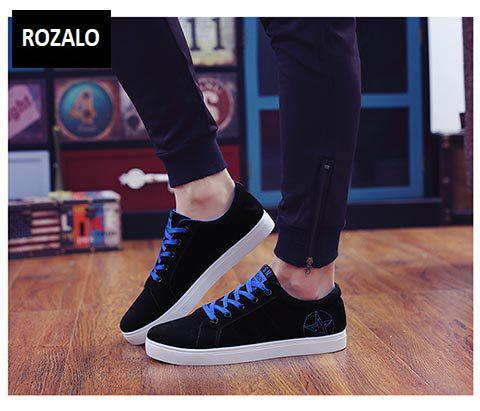 Giày sneaker nam Rozalo RMG8607BR-Đen xanh