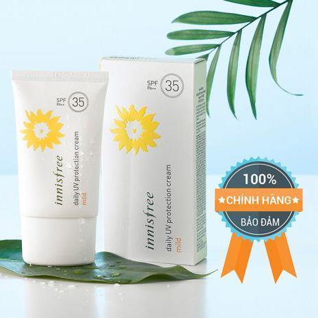 Kem Chống Nắng Innisfree Mild Daily Uv Protection Cream SPF 35 - Chính Hãng Hàn Quốc