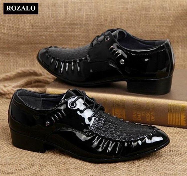 Giày tây nam Rozalo RMG3237B-Đen