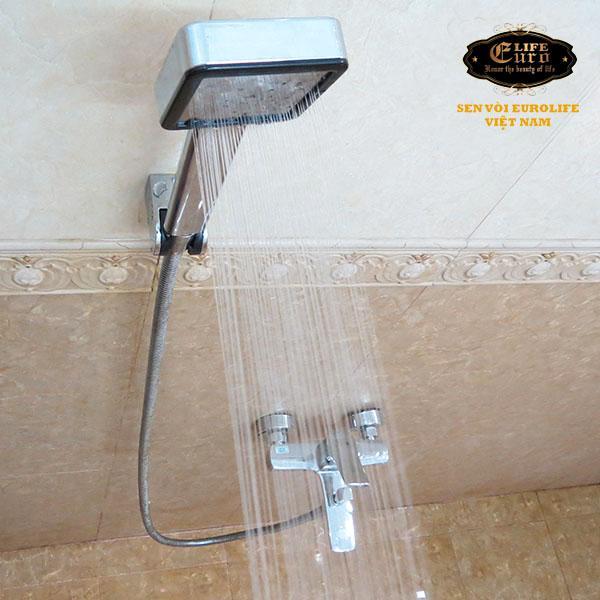 Bộ tay dây sen siêu tăng áp 1 chế độ nước chảy Eurolife EL-113SH-3.jpg