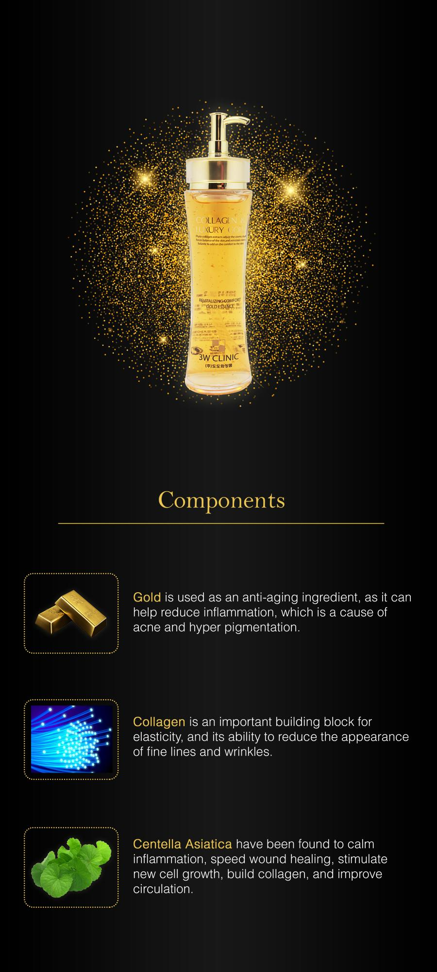 3w clinic collagen & luxury gold essence 1