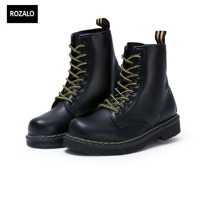 Giày boot nữ cổ cao chống nước Rozalo RW58866B-Đen1.jpg