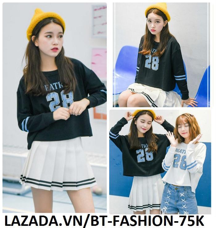 Váy Ngắn Xếp Ly Lưng Cao Hàn Quốc-BT Fashion VA025(Phối Viền-Hồng) - Ảnh 8