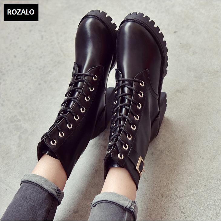 Giày boot nữ cổ cao đế vuông chống trượt Rozalo RW81130B-Đen5.png