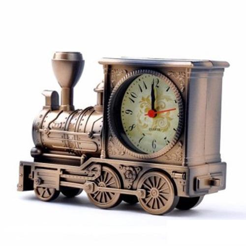 Đồng hồ để bàn mô hình xe lửa trang trí kèm pin 2A Camelion