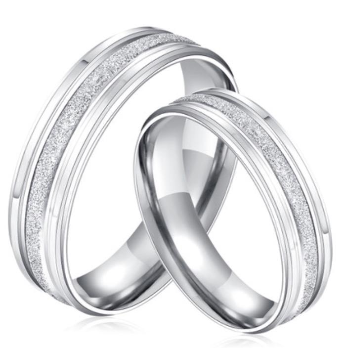 Nhẫn cặp đôi trơn phun cát màu trắng đơn giản NC5644 (4).jpg