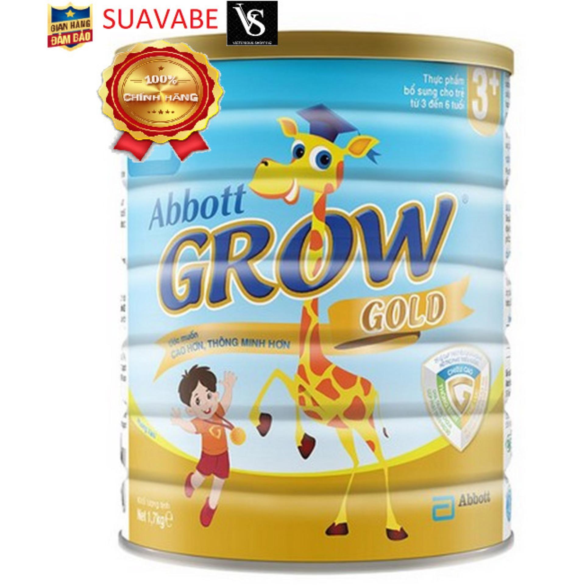 Sữa bột Abbott Grow Gold 3+ Hương Vani 1.7kg dễ tiêu hóa; hấp thụ, hỗ trợ phát triển trí tuệ; thị giác & ngôn ngữ