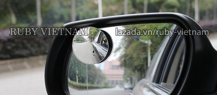 Gương phụ chiếu hậu xoay 360 độ hình cầu cho xe hơi  RUBY RBX001