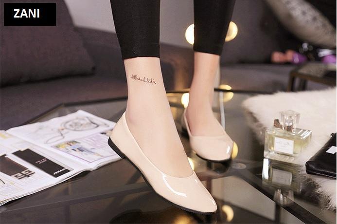 Giày búp bê đế bệt ZANI ZW85016Be-Be