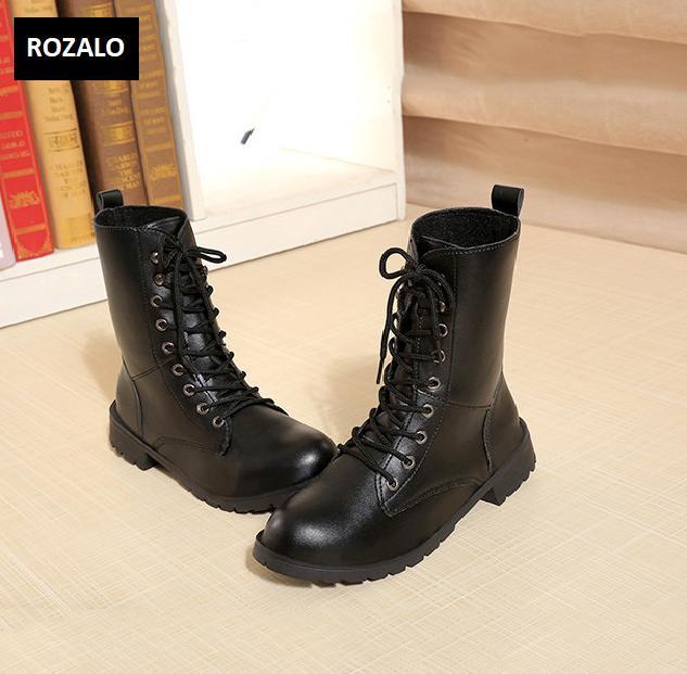 Giày boot nữ cổ cao đế thấp Rozalo RW67517B-Đen2.png